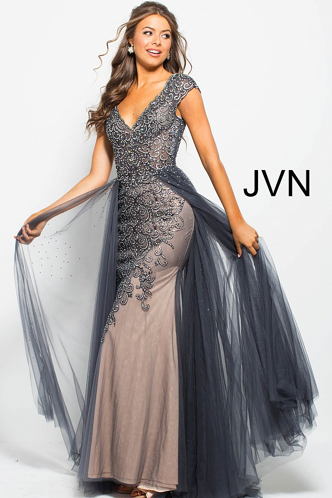 Beaded grey dress jvn60967 660x990 2