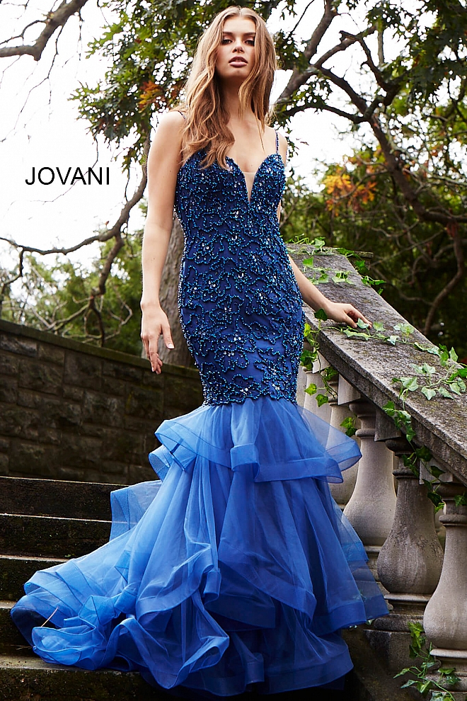 Beaded mermaid prom dress 50405 660x990