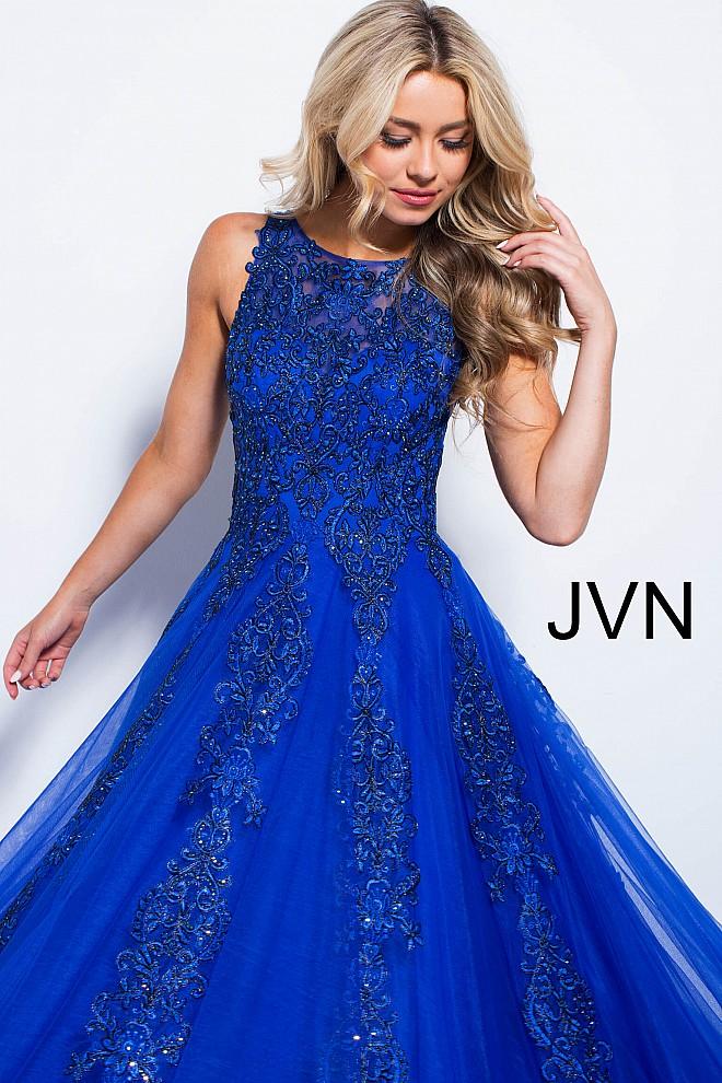 Blue lace dress jvn59046 660x990