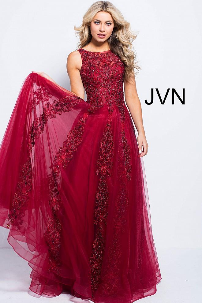 High neck lace dress jvn59046 660x990