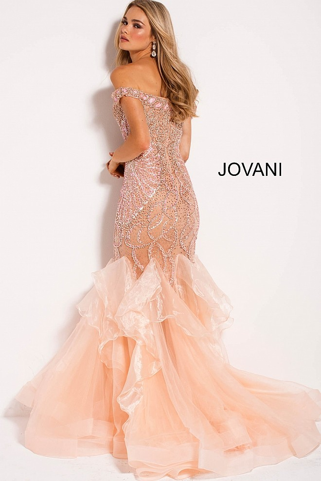 Jovani 53396 off the shoulder trumpet prom gown 03 302