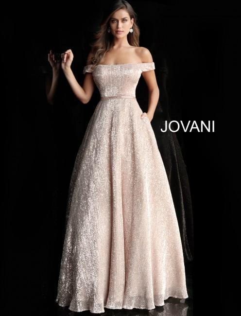 Jovani 66951 a line sequin prom gown 01 613