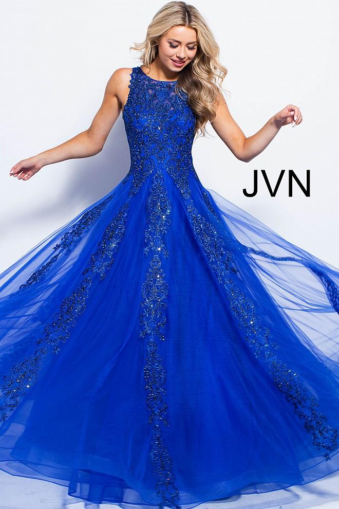 Lace ballgown jvn59046 660x990