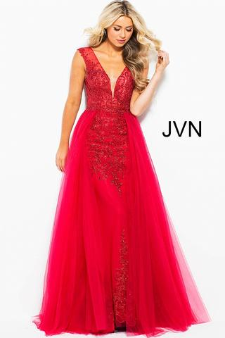 Red lace prom dress jvn41677 660x990 large