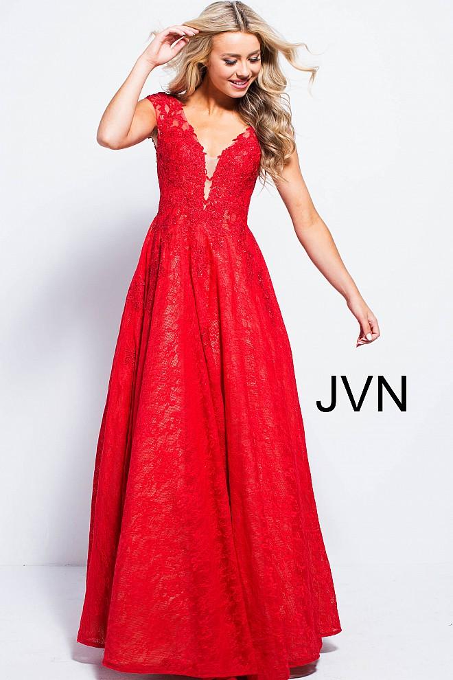 Red prom ballgown jvn58119 660x990 2