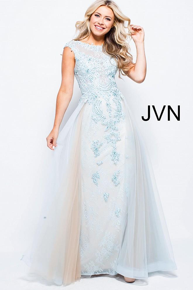 Sky blue lace dress jvn58023 660x990